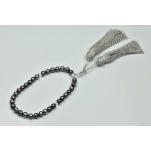 未使用 あこや真珠 染めグレーパール 念珠 7.9mm〜8.3mm|osaka-jewelry