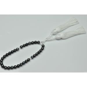 未使用 あこや真珠 染めグレーパール 念珠 7.7mm〜8.2mm|osaka-jewelry