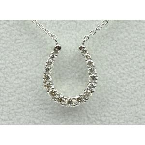 馬蹄 プラチナ 合計 0.50ct ダイヤモンド ネックレス|osaka-jewelry