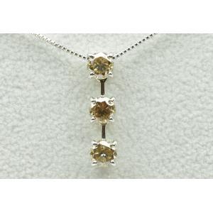 K18WG トリロジー 合計 1.00ct ダイヤモンド ネックレス|osaka-jewelry