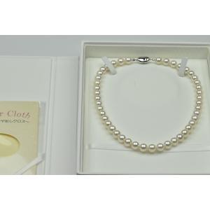 【オーロラ 花珠】9mm-9.5mm 新品 パールネックレス|osaka-jewelry