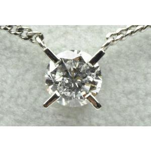 一粒 0.67ct プラチナ ダイヤモンドネックレス|osaka-jewelry