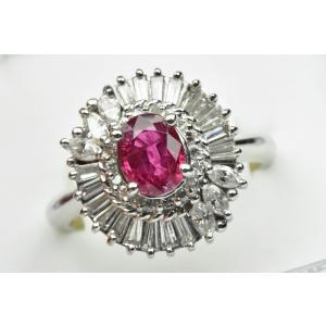 【鑑別】Pt900 ルビー 1.11ct ダイヤモンドリング 12号 osaka-jewelry