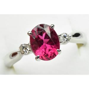 【鑑別】Pt900 ルベライト 1.38ct ダイヤモンドリング 12号 osaka-jewelry