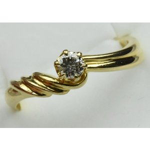 K18 ゴールド 0.14ct ダイヤモンドリング 10号 指輪 osaka-jewelry