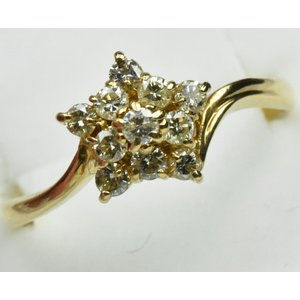 K18 ゴールド 0.32ct ダイヤモンドリング 12号 指輪 osaka-jewelry
