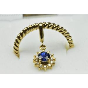 K18 サファイア ダイヤモンドリング 11号 指輪 osaka-jewelry