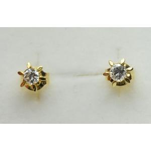 K18 ゴールド 0.10ct ×2個 ダイヤモンド ピアス osaka-jewelry