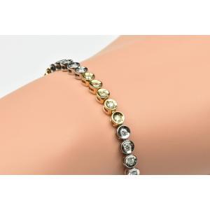 【鑑別】ゴージャス コンビ K18 Pt850 テニスブレスレット osaka-jewelry