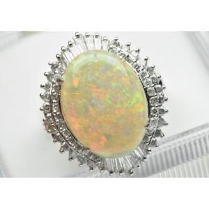 ゴージャス 【鑑別】オパール 4.79ct ダイヤモンドリング osaka-jewelry