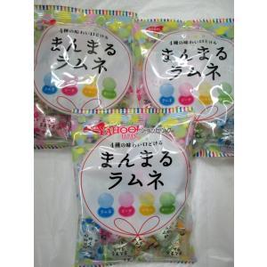 【メール便送料無料】ノーベル製菓 80g まんまるラムネ約25粒×3袋 +税