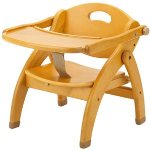 ☆とても安定性のあるベビー&子供イスです。 ☆テーブルは背もたれ後方に回転して収納します。 ☆簡単に...