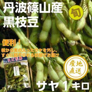 丹波篠山産 黒枝豆 サヤのみ1キロ 枝豆