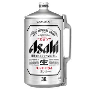 アサヒ アサヒスーパードライ ミニ樽アルミ3L 6本入 1ケース (別途送料がかかります) お酒屋さんジェーピー 国産ビール|osakayasan