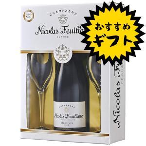 ニコラ・フィアット ホワイトラベル シャンパングラス2個付きギフトセット お酒屋さんジェーピー