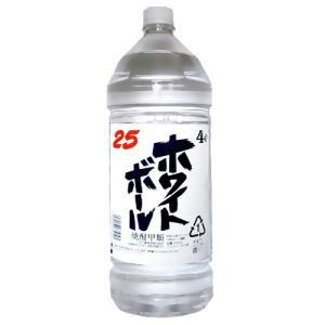 ホワイトボール 25度 4000ml ペット 4本まとめ買い 江井ヶ島酒造 兵庫県 焼酎甲類