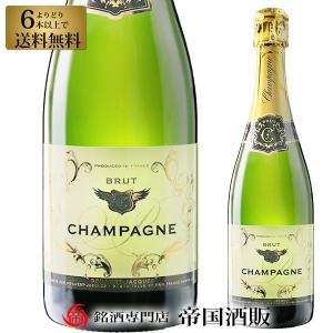 シャンパン ポルヴェール ジャック シャンパーニュ 750ml スパークリング ワイン フランス 6本選んで送料無料 帝国酒販|osakeichibajp