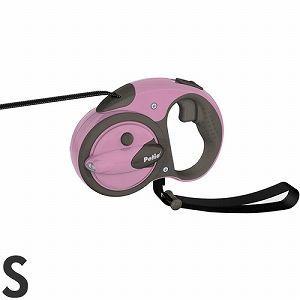 ペティオ 伸縮リード ナイトウォーカー リールリード スマートコントロール S 小型犬用 パリスピンク