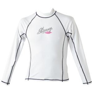 セール 送料無料 Slipperry (スリッパリー)WOMENS RASH GUARD ウィメンズ ラッシュガード 白 長袖 UVカット Mサイズ 商品番号:2222-0017|osawamarine