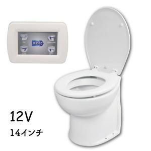 電動マリントイレ デラックス フラッシュトイレ 14インチ 12V ジャブスコ 58260−1012|osawamarine