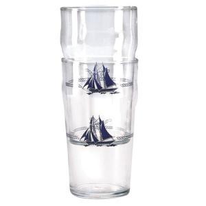Plastimo(プラスチモ) ビアグラス マリーン柄 580ml 38026A|osawamarine