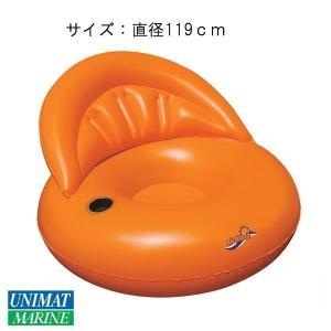 フローティングチェア フロータ― カラー:オレンジ/浮く 浮き具 プール 海 水遊び|osawamarine
