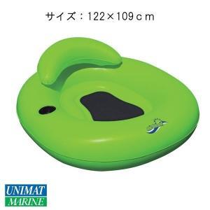 フロートチューブ カラー:ライムグリーン/浮く 浮き具 プール 海 水遊び|osawamarine
