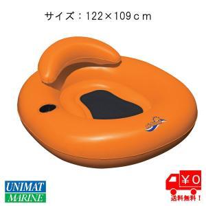 フロートチューブ カラー:オレンジ/浮く 浮き具 プール 海 水遊び|osawamarine
