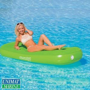 クールスウェード フラットラウンジ 浮く 浮き具 プール 海 水遊び カラー:ライムグリーン|osawamarine