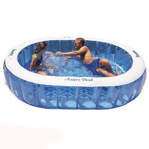 エアー プール 257x173cm 楕円型/夏 水遊び|osawamarine
