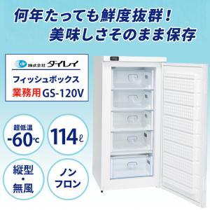 冷凍庫 マイナス60度 業務用 ダイレイ GS-120V eco -60度 114L 超低温冷凍庫 ...