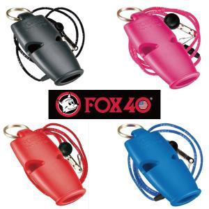 笛 審判 ホイッスル スポーツ FOX40 マイクロ ブラック ブルー ピンク レッド