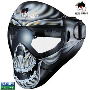 セーブフェイス(SAVE PHACE)スポーツマスク ディクテーター ブラックスカル|osawamarine