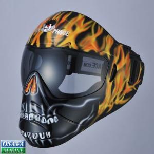 セーブフェイス(SAVE PHACE)スポーツマスク ゴーストライダー レッドフレームスカル|osawamarine