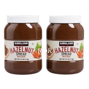 【2本セット】カークランドシグネチャー ヘーゼルナッツチョコレートスプレッド 1kg×2個セット コ...