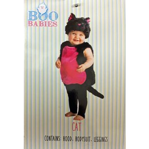BOO BABIES ベビー用ハロウィンコスチューム【ブラックキャット/ねこ/黒猫】0-9ヶ月/9-18ヶ月/ハロウィーン/赤ちゃん/仮装/衣装/着ぐるみ/ネコ osentaku