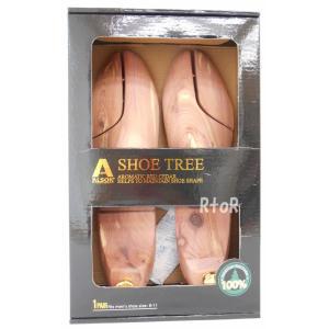 レッドシダー シューツリー/シューキーパー 木製 消臭・湿気吸収 男性用26〜29cm対応|osentaku