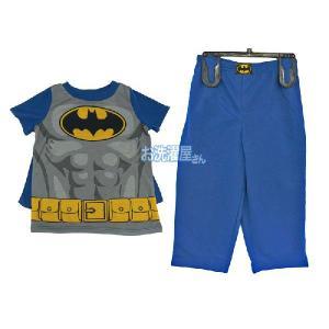 メール便無料♪ WB「バットマン/BATMAN」 半袖パジャマ3ピースセット マント付き|osentaku