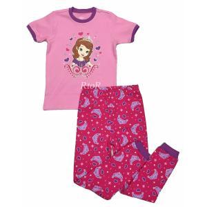 メール便無料♪Disney 「ちいさなプリンセスソフィア/ピンク」 半袖パジャマ2ピースセット ピンク ディズニー|osentaku