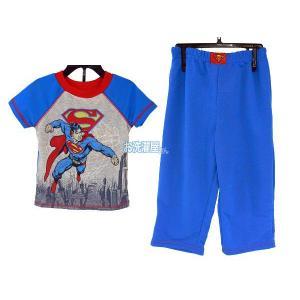 【メール便無料♪】WB 「スーパーマン/SUPERMAN」 半袖パジャマ2ピースセット  ディズニー/マーベル|osentaku