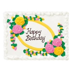 Costco コストコ「ハーフシートケーキ ホワイトorチョコ」48人分のお誕生日ケーキ 選べるデザイン/パーティ/オーダーケーキ「代金引換不可/クール冷凍便のみ」|osentaku