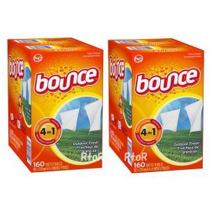 バウンス bounce 乾燥機用シートタイプ柔軟剤 たっぷり160枚入り×2箱セット アウトドアフレッシュ|osentaku
