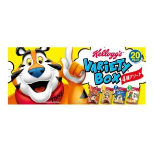 ケロッグ●バラエティ シリアル 4種類20箱セット 朝食に!おやつに! KELLOGG's コーンフレークの画像