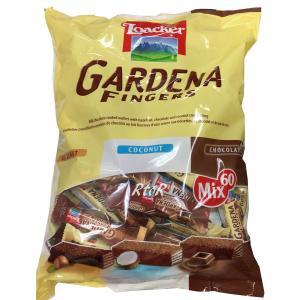 Loacker ローカー(袋入り)「GARDENA FINGERS 750g」 ガルデーナフィンガー 3種類(へーゼルナッツ・ココナッツ・ミルクチョコ) ウエハース