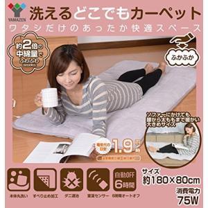 山善 YAMAZEN ふかふか 洗えるどこでも 電気カーペット(幅80×長さ180cm)|osentaku