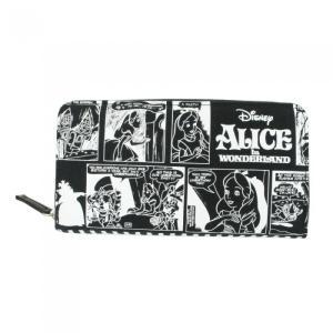 商品説明:人気のスウェット素材にディズニー「不思議の国のアリス」のコミック柄がプリントされた長サイフ...