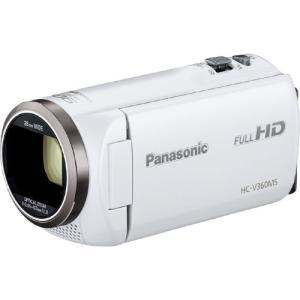 パナソニック HC-V360MS-W ホワイト デジタルハイビジョンビデオカメラ [別途延長保証契約...