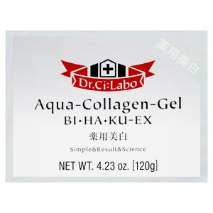 ドクターシーラボ 薬用アクア コラーゲン ゲル 美白 EX 120g[Dr.Ci:Labo/BIHAKU/美白][多機能美白 保湿 ゲル][送料無料]|osharecafe