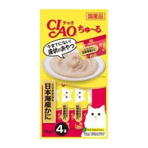 CIAO ちゅ~る とりささみ&日本海産かに 14g×4本【KSPET】(wn1102)|osharecafe