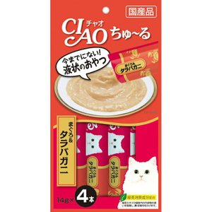 CIAO ちゅ~る まぐろ&タラバガニ入り 14g×4本【KSPET】(wn1102)|osharecafe